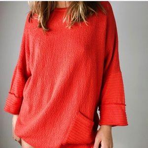 MARGARET WINTERS NEW YORK Orange Tunic Sweater M